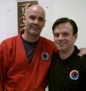 "Master Michael Macario with Ron Wilder on ""official"" promotion day, May 14, 2011"